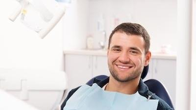 Patient with dental anxiety smiling