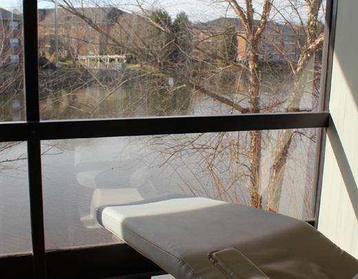a view from one of the windows in our high point dental office operatories