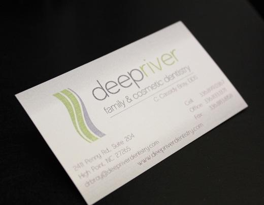 a business card from our high point nc dentist office